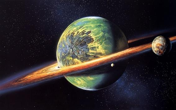 Обои Пострадавшая столкновения планет