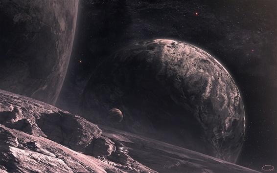 壁紙 惑星の表面