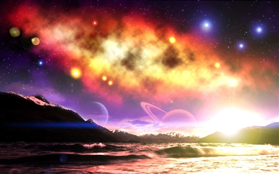 Papéis de Parede O mundo dos sonhos do céu encantador