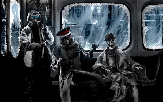 배경 화면 인간 운명의 기차