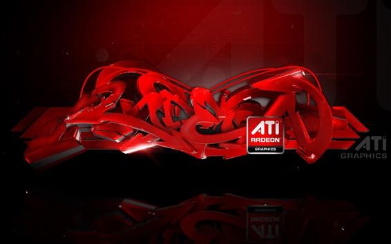 Papéis de Parede Gráficos ATI Radeon anúncios abstratas