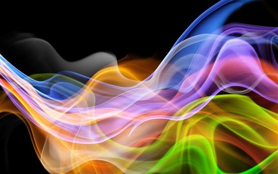 Papéis de Parede Curva de fundo abstrato colorido