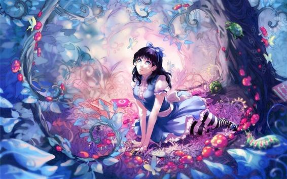 Wallpaper Anime girl fairy forest