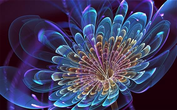 Wallpaper Beautiful 3D creative flowers