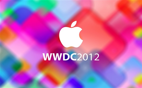 Wallpaper Colorful background Apple Logo