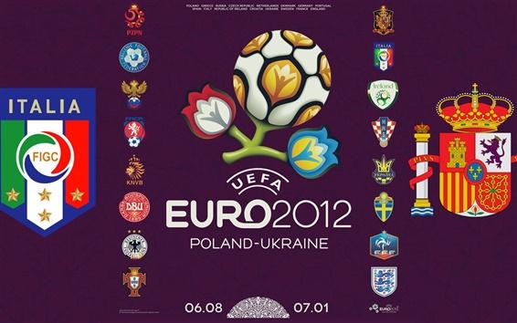 Обои Евро логотип Кубка 2012