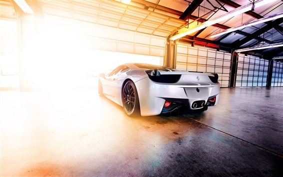 Wallpaper Ferrari 458 glare