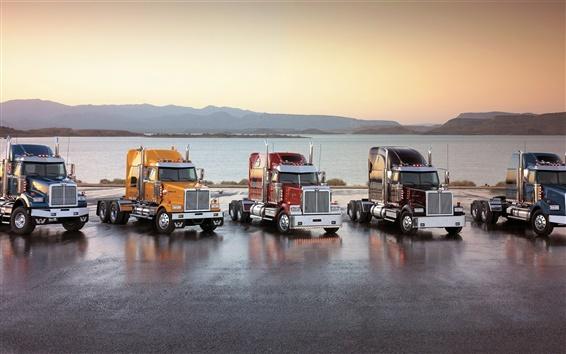 Papéis de Parede Cinco caminhões agradáveis