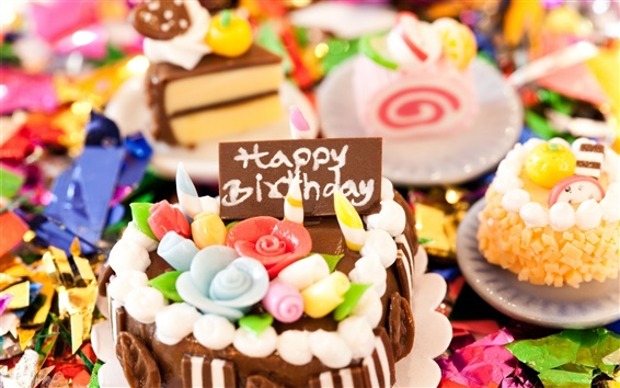 Wallpaper Holiday birthday cake