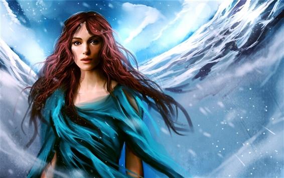 Fond d'écran Keira Knightley belle peinture