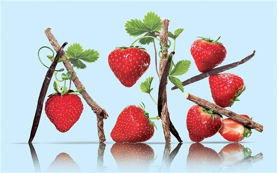 Wallpaper Nutrient rich fruits, strawberry
