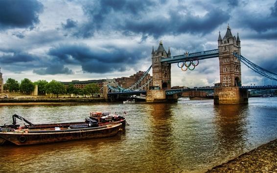 Wallpaper Olympics 2012 London River Thames Tower Bridge