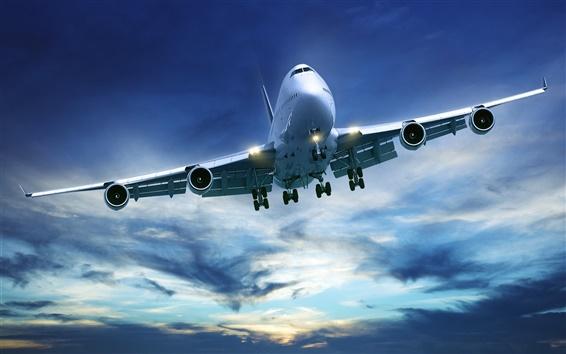 Wallpaper Passenger aircraft Boeing 747
