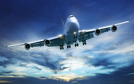 Fondos de pantalla Avión de pasajeros Boeing 747