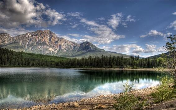 Wallpaper Patricia Lake Jasper Canada