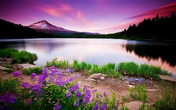 Fondos de pantalla Spring Lake resplandor del cielo