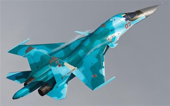 배경 화면 스와-34 Sukhoi 폭격기