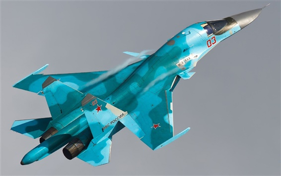 Wallpaper Su-34 Sukhoi bomber