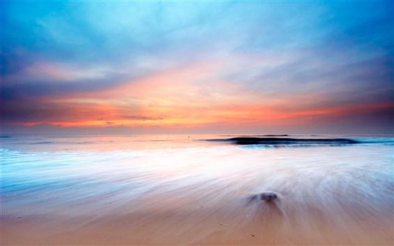 Wallpaper Sunset's glow sea