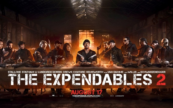 Wallpaper The Expendables 2 super poster