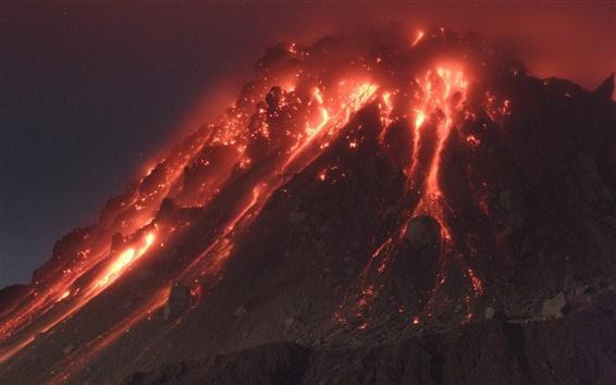 Wallpaper Volcano hot magma