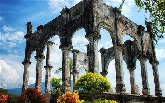 Wallpaper Ancient palace ruins