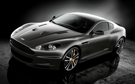 Wallpaper Aston Martin supercar black color