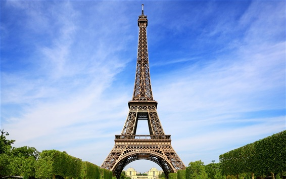 Wallpaper Attractions, the Eiffel Tower in Paris, France