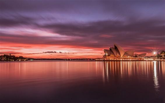 Wallpaper Australia Sydney Opera House sunset
