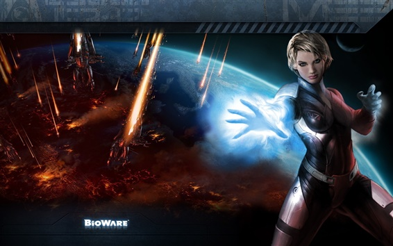 Wallpaper Beautiful girl in Mass Effect 3