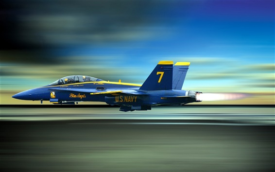 Wallpaper Blue Angels, the high-speed flying fighter