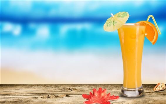 Wallpaper Cocktail of orange juice