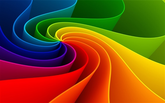 Wallpaper Colorful abstract stripes pooled