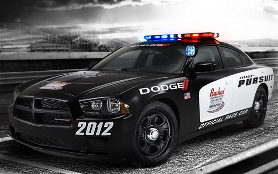 Wallpaper Dodge police car