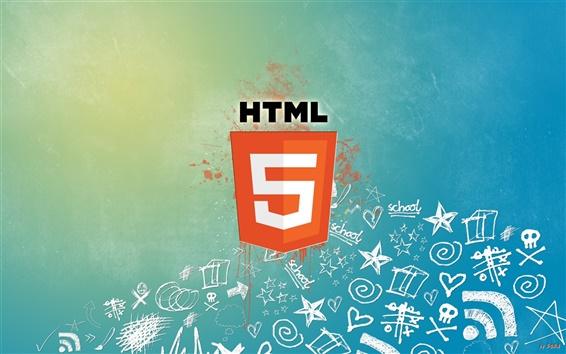 Обои HTML5 язык разметки гипертекста логотип