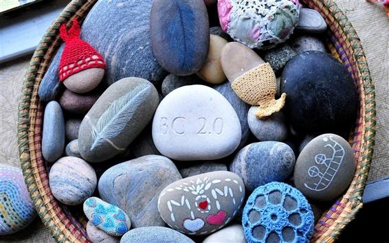 壁紙 手描きの色の石の芸術