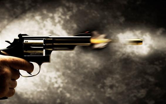 Wallpaper Instant bullet fired from the pistol