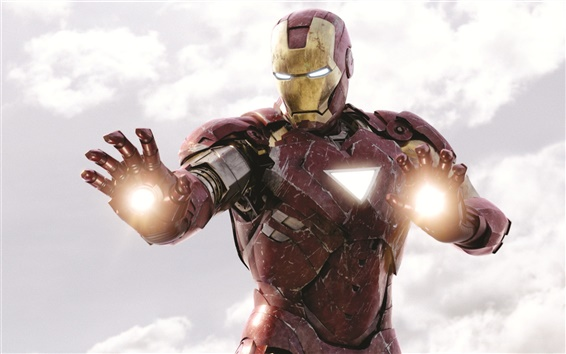 Wallpaper Iron Man is fighting, The Avengers
