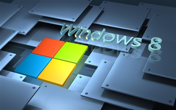 Wallpaper Microsoft Windows 8 System logo