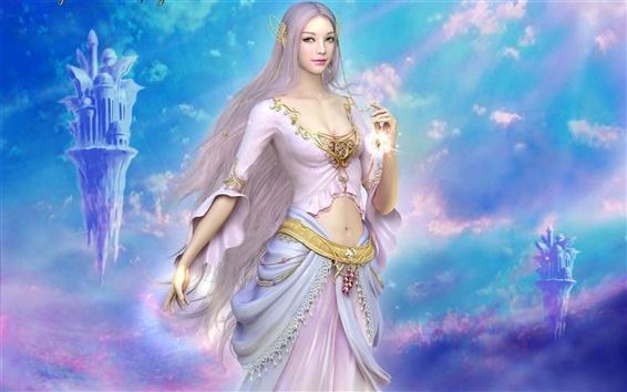 Wallpaper Shaiya: Light and Darkness, Guidance of goddess