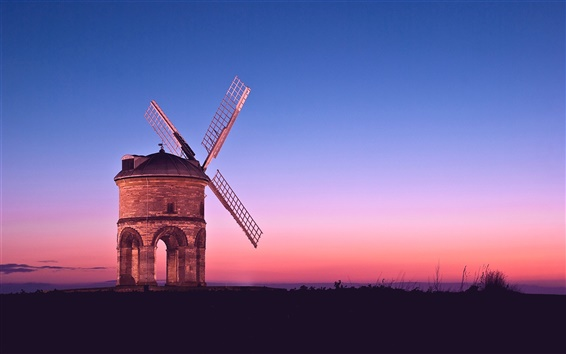 Wallpaper Sunset windmill