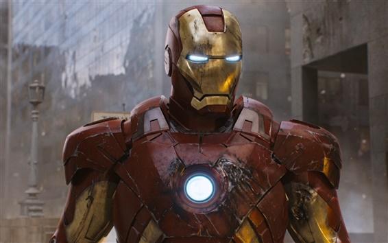 Fond d'écran Iron Man super-héros dans The Avengers
