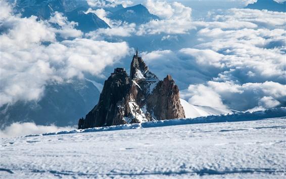 Обои Альпах снег и дома