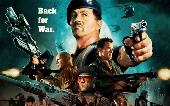 Wallpaper The Expendables 2, Sylvester Stallone HD