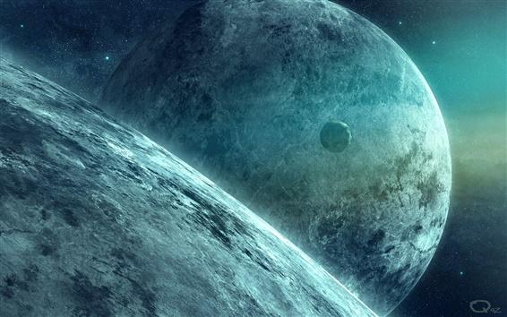 Обои Планет и Луны в пространстве