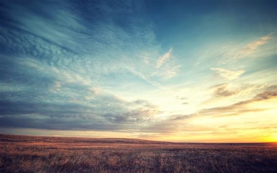 Fondos de pantalla Boulder Colorado, paisaje hermoso amanecer, flotando cielo nubes