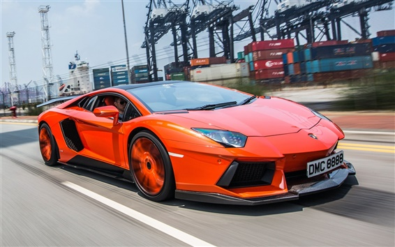 Wallpaper Lamborghini Aventador LP900-4 high-speed