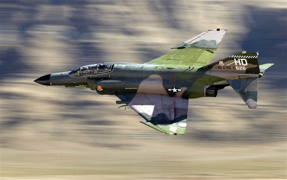 壁紙 軍用機、F4戦闘機