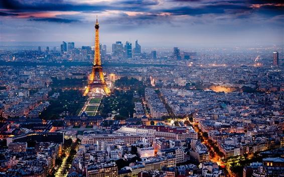 Wallpaper Paris, the beautiful city night scene
