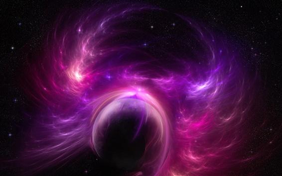 Обои Вселенной планету фиолетовым буря